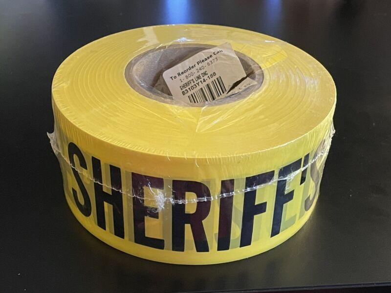 "Roll Of Sherrif's Line Do Not Cross Tape 3"" Yellow Police"