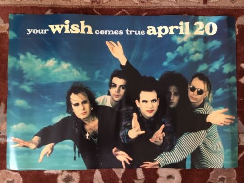 THE CURE  Wish  rare original advance promotional poster