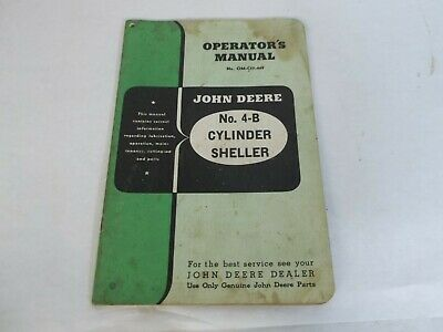 John Deere 4-b Cylinder Sheller Operators Manual
