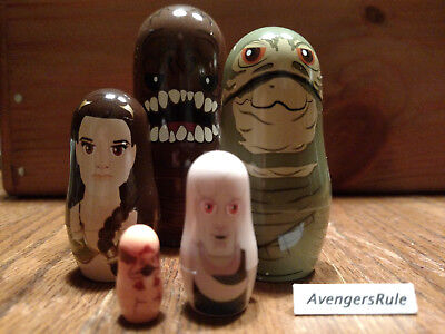Star Wars Hidden Heroes Nesting Dolls Rancor Jabba Leia Fortuna Salacious