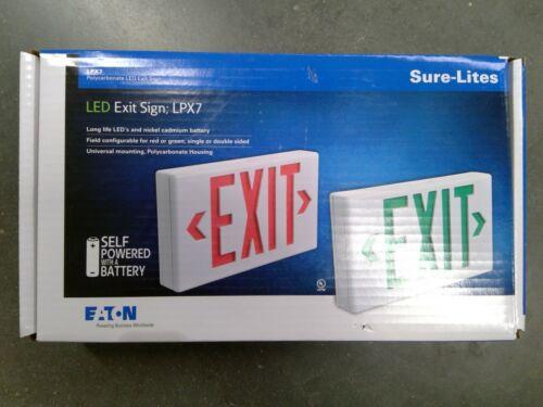 Eaton LPX7 Sure-Lites LED Exit Sign **Free Shipping**