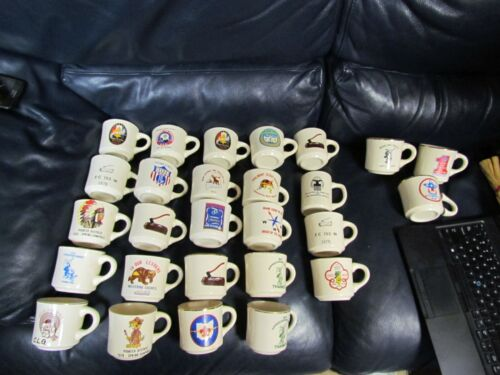 Vintage Miscellaneous Boy Scout Council Coffee Mugs Lot of 24