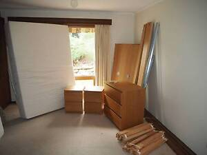 Ikea Malm bedroom set up, with Mattress Fairview Park Tea Tree Gully Area Preview