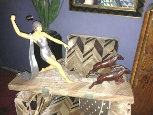 Huge Dauvergne Statue Sculptue Diana