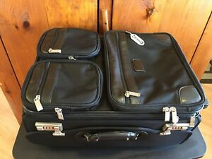 New McKlein USA Leather Trim Wheeled Business/Travel/Secured Bag