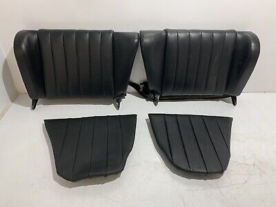 Genuine Porsche 911 912 Early Rear Seat Set of Four Pieces Black Leather USED