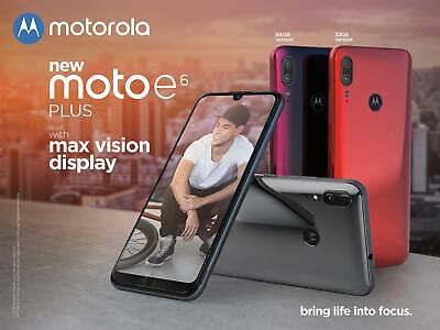 Motorola Moto E6 Plus 6.1 Inch Android 9 Pie UK SIM Free Smartphone Graphite NEW