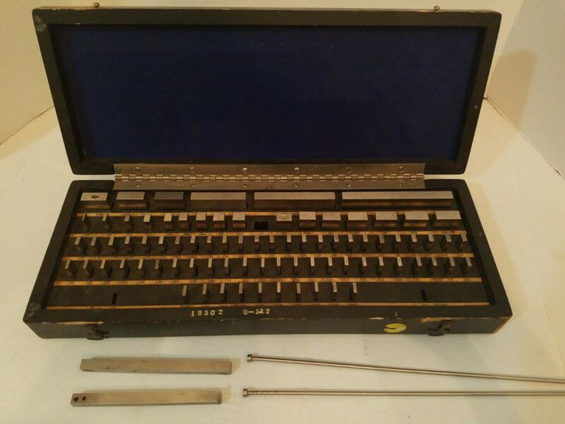 Vintage Gage Block Set, Sheer Tumico Co. 84 pc, ULTRA CHEX INSPECTOSET (READ)