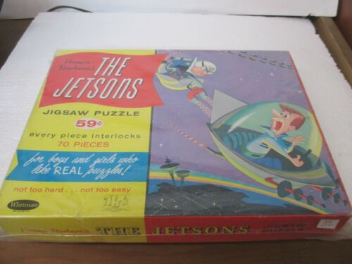 The Jetsons  Complete Jigsaw Puzzle - Police Chasing George in Flying Car - EX