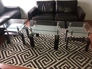 Table de salon (3 morceaux) NÉGOCIABLE