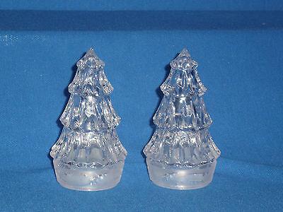 Crystal Christmas Tree Salt Pepper Set Beautiful Detail  - $17.99