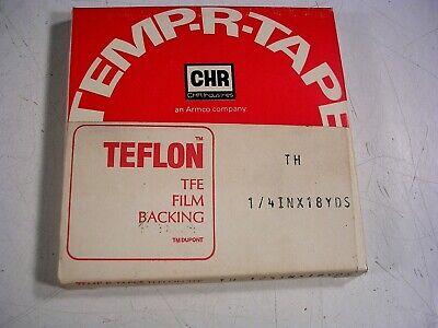 Chr White .250 X 18 Yards High Temperature Ptfe Teflon Adhesive Tape