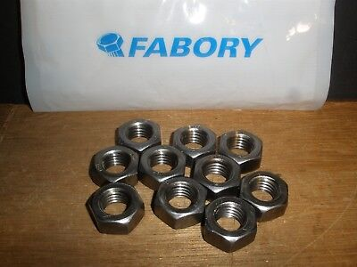 M14-2.0 Hex Nut Plain Steel Grade 8 DIN 934 (Qty.25) (2.0 Hex Nut)