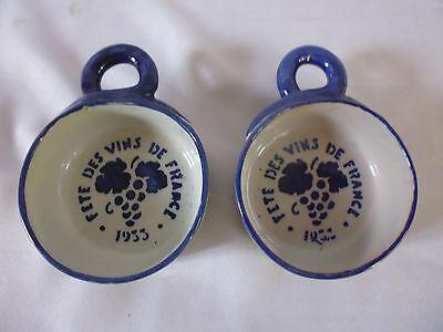 1 ancien tasse tassee taste vin céramique émaillée charolles bourgogne 71 / 1930