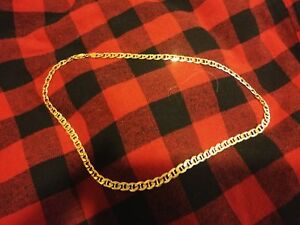 """26 Gram 10K Gold Chain. 21"""" long and 6.4mm wide links"""