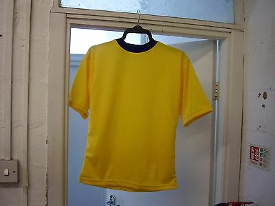 A BRAND NEW SET OF 11 X 34/36 SHORT SLEEVE FOOTBALL SHIRTS ,,SUIT 11-12 YEARS