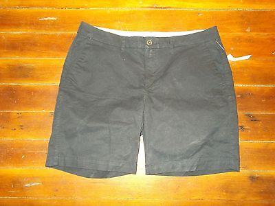 Old Navy Black Khaki Shorts Women's Size 8 NEW NWT