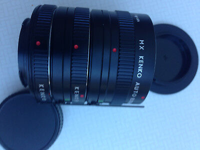 KENKO AUTO  Extension Tube 12mm, 20mm, 36mm Extension Tube Set ** wie neu ** Kenko Auto Extension Tube