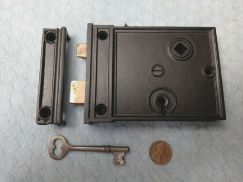 Interior Rim Lock Only Reversible Restored w/ key