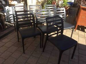 7 Black Italian BicaDesign Plastic Chairs Beckenham Gosnells Area Preview