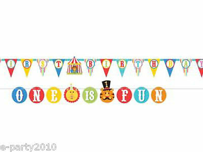 FISHER PRICE CIRCUS 1st Birthday JUMBO BANNER LETTER KIT ~ Party Supplies Decor - 1st Birthday Circus Party Supplies