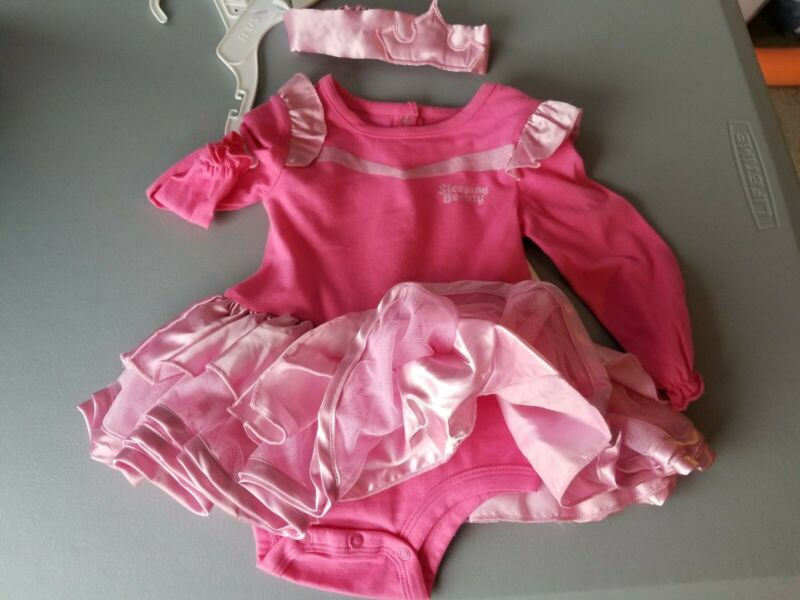 Disney Baby Sleeping Beauty Outfit Costume with Headband 6M Months