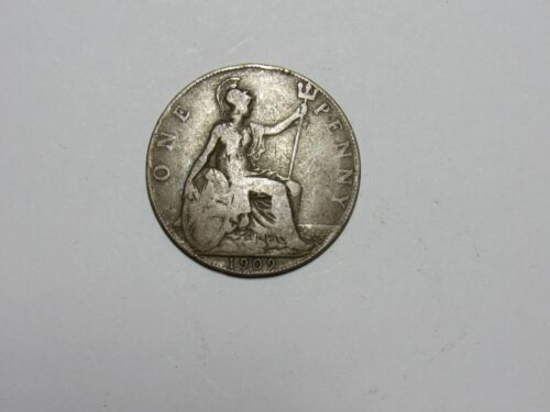 Old Great Britain Coin - 1909 Penny - Circulated