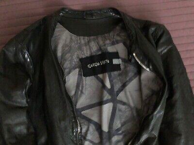 Giorgio Brato Black Lather Jacket