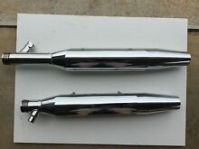 Harley Softail mufflers as new. Cumbalum Ballina Area Preview