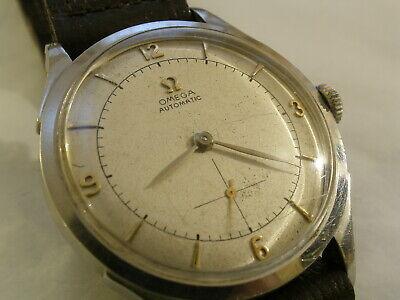 Vintage OMEGA 30.10 RA PC 17 Jewel Automatic Bumper 2374 2 S.Steel Case Watch segunda mano  Embacar hacia Spain
