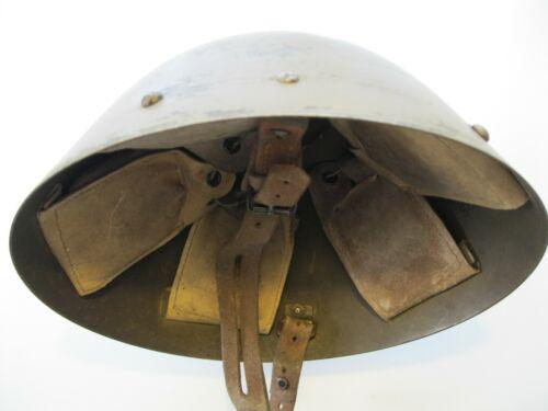 Original Czech VZ-32 WW2 Size Medium M-1932 Eggshell Steel Helmet Medium