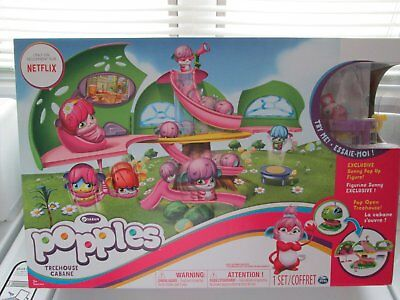 Popples Pop Open Treehouse Cabane Playhouse Nib Only Netflix Exclusive Sunny Fig