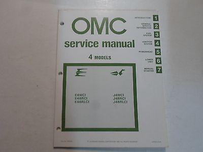 1981 OMC 4 Models E4WCI J4WCI E4BRCI E4BRLCI J4BRCI Service Repair Manual