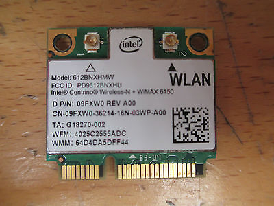 Intel Centrino Advanced N + WiMAX 6150 4G 612BNXHMW 802.11b/g/n WIFI WLAN (220)