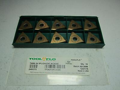 Tool-flo 2490370 Tnma 54 5plion Ext Acx22c Carbide Threading Insert - Pack Of 10