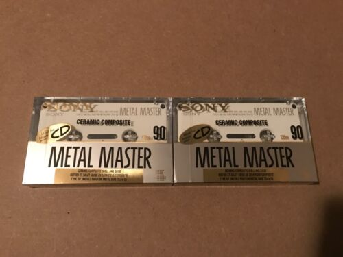 Set Of 2 New Sealed Sony Metal Master 90 Cassettes Tapes Type IV Made in Japan