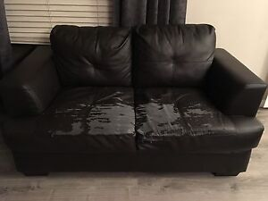 FREE leather loveseat