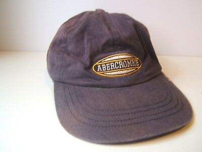 Abercrombie AF Hat Faded Discolored Blue Strapback Baseball Cap
