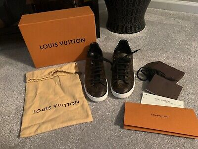 Authentic Louis Vuitton Frontrow Sneakers Shoes 41 10 11 10.5 LV Monogram