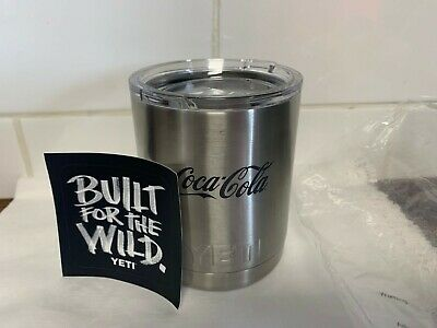 GENUINE YETI RAMBLER LOWBALL 10 OZ TUMBLER COCA COLA BRANDED LIMITED EDITION