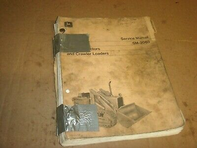 John Deere 350 Crawler Dozer Tractor Loader Shop Service Repair Manual Sm2063