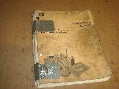 John Deere 350 Crawler Dozer Tractor Loader Shop Service Repair Manual Sm2063