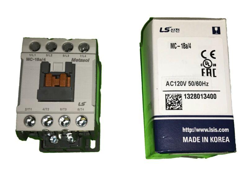 LS Metasol Contactor MC-18a/4 120VAC Screw terminals