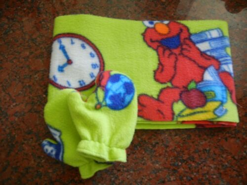 Elmo Toddler Scarf and Mitten Set Handmade NWT