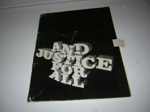 AND JUSTICE FOR ALL MOVIE PRESS KIT 1979 AL PACINO 13 PRESS PHOTOS &FOLDER