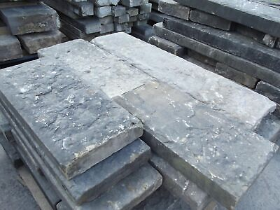 "Reclaimed 12"" Wide York Stone Copings / Toppers Smooth & Riven (per FT)"