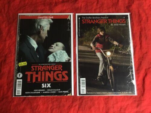 "STRANGER THINGS #1+""six"" #1~PHOTO COVER VARIANT COMICS BOOK SET~NM~"