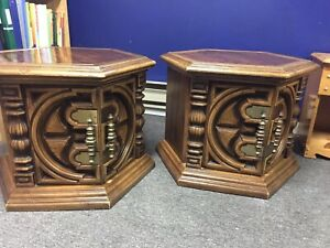 2 hexagon side tables