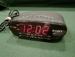 SONY ICF-C211 Dream Machine AM/FM Alarm Snooze Clock Radio Black Battery Backup