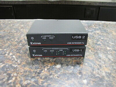 Lot 2 Extron Usb Twisted Pair Extender Tx Transmitter Rx Receiver - Quantity
